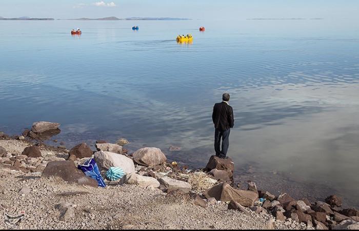 تصاویر افزایش نسبی آب دریاچه ارومیه