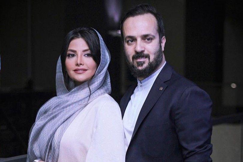 عکس لو رفتهاحمد مهران فر و همسرش درجشن عروسیشان
