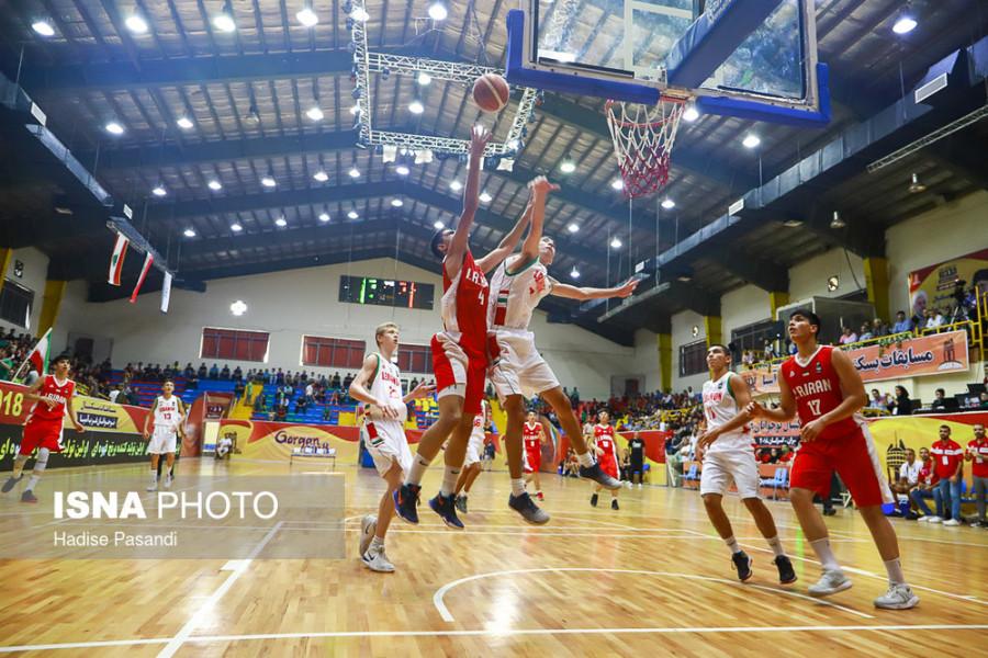مسابقات بسکتبال نوجوانان غرب آسیا | ایران و لبنان/ تصاویر