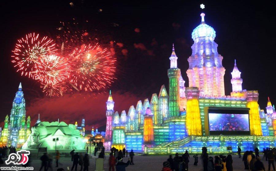 تصاویر زیبا از جشنواره مجسمه های یخی و برفی هاربین در چین