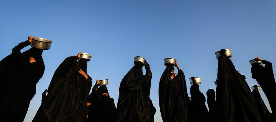 تصاویر آیین تدفین نمادین شهدای کربلا در شهرستان حمیدیه