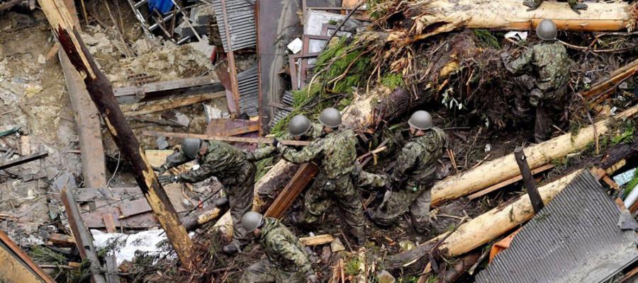 تصاویر سیل ویرانگر در ژاپن