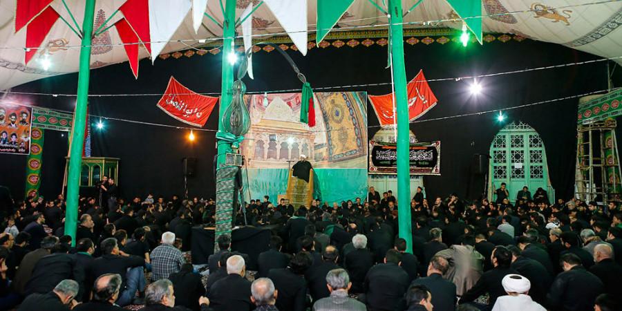 تصاویر عزاداری شب تاسوعا در جوار بقعه امامزاده مبرقع(ع) قم