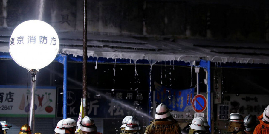 تصاویر آتش سوزی در بزرگترین بازار ماهی جهان