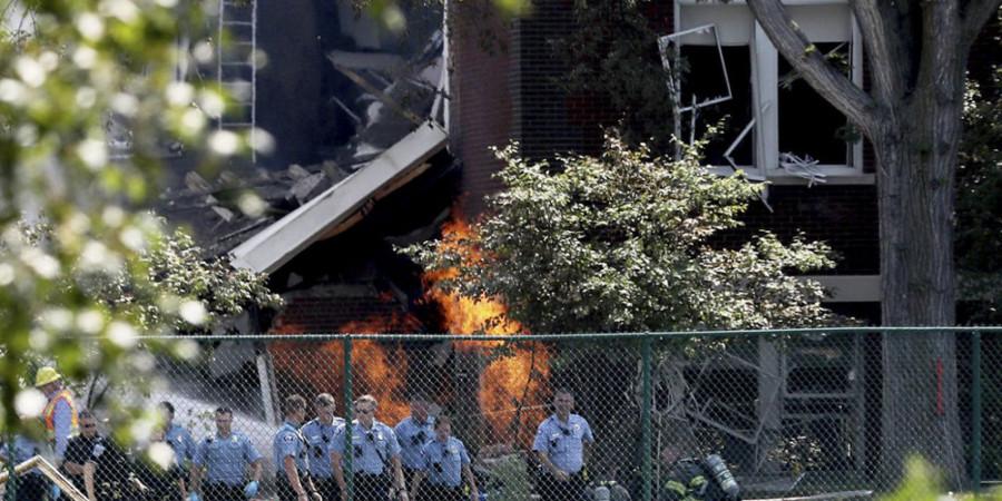 تصاویر انفجار گاز در آمریکا
