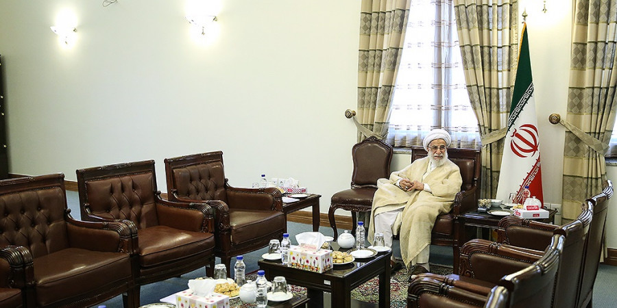 تصاویر دیدار رئیس مجلس سنای پاکستان با رئیس مجلس خبرگان رهبری