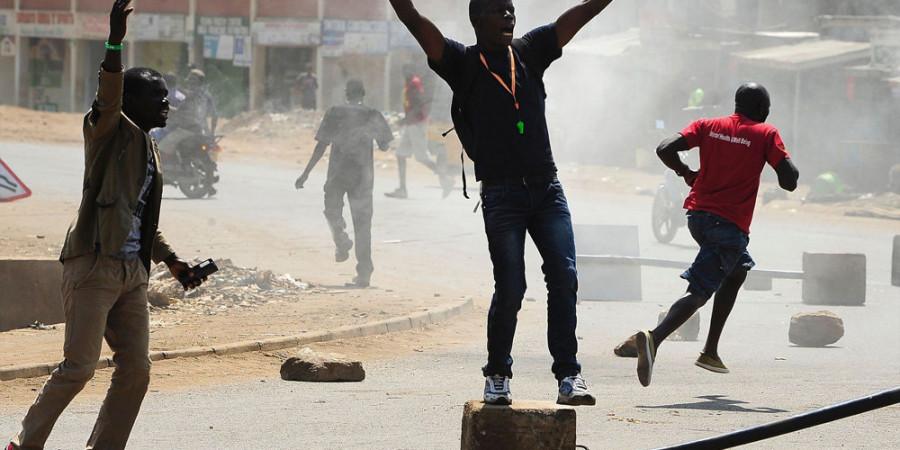 تصاویر اعتراضات بعد از انتخابات در کنیا